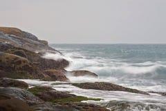 La forme de relief et le paysage uniques de la côte du nord de Taïwan photographie stock libre de droits