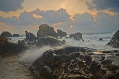La forme de relief et le paysage uniques de la côte du nord de Taïwan images libres de droits