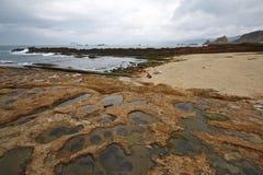 La forme de relief unique et le grand paysage de la côte du nord de Taïwan photo libre de droits