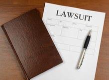 La forme du procès est sur la table Photographie stock libre de droits