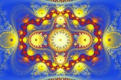 La forme géométrique de fractale peut illustrer l'explosion nucléaire magique de rêverie de rêves psychédéliques de l'espace d'im Photographie stock libre de droits