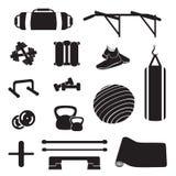 La forme physique accessoirisent le vecteur Ensemble à la maison d'équipement de forme physique Photographie stock