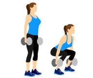 La forme physique exerce la motivation Photo stock
