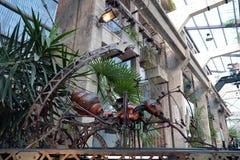 La formica di Mecanical a Les lavora de a macchina l ile del ` a Nantes fotografia stock libera da diritti