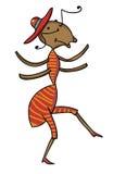 La formica favolosa sta ballando Immagine Stock Libera da Diritti