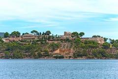 La Fortaleza. La Fortaleza castle in the bay of Pollenca Royalty Free Stock Photography