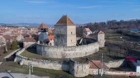 La fortaleza de Calnic Transilvania, Rumania Fotos de archivo libres de regalías