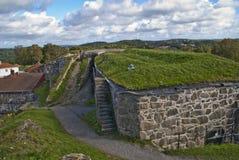 La fortaleza de Fredriksten adentro halden Foto de archivo