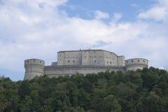 La fortaleza de San Leo fotografía de archivo
