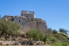 La fortaleza de Yehiam, Israel Foto de archivo libre de regalías