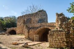 La fortaleza de Yehiam, Israel Imágenes de archivo libres de regalías