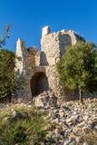 La fortaleza de Yehiam, Israel Foto de archivo