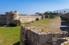 La fortaleza del caballero, isla de Kos Imagen de archivo libre de regalías