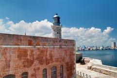 La fortaleza del EL Morro en La Habana, Cuba con Foto de archivo libre de regalías