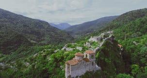 La fortaleza del ` s de Asen en Asenovgrad Plovdiv Bulgaria almacen de video
