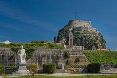 La fortaleza en la ciudad de Corfú, Grecia Fotografía de archivo libre de regalías