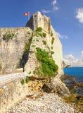 La fortaleza en la ciudad vieja Budva montenegro Foto de archivo
