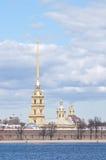 La fortaleza hisorical del peterpau de la catedral Foto de archivo