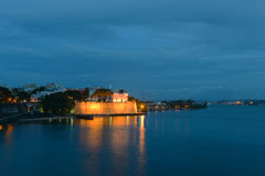 La Fortaleza la nuit, San Juan, Porto Rico Images libres de droits
