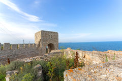 La fortaleza medieval de Kaliakra Imagenes de archivo