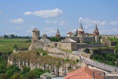 La fortaleza medieval en Kamenets Podolskiy Foto de archivo libre de regalías