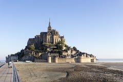 La fortaleza Mont Saint Michel en Francia Imagen de archivo