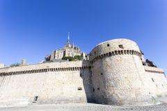 La fortaleza Mont Saint Michel en Francia Fotos de archivo libres de regalías