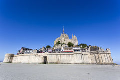 La fortaleza Mont Saint Michel en Francia Imágenes de archivo libres de regalías