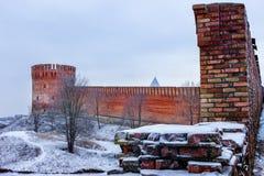 La fortaleza smolensk imagenes de archivo