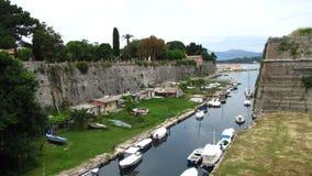 La fortaleza vieja Corfú Imagen de archivo libre de regalías