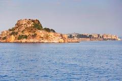 La fortaleza vieja de la isla de Corfú, Grecia Imagen de archivo