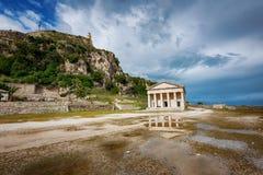 La fortaleza vieja, isla de Corfú, Grecia Fotos de archivo libres de regalías