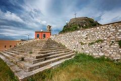 La fortaleza vieja, isla de Corfú, Grecia Fotografía de archivo