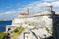 La fortaleza y el faro del EL Morro en La Habana Imágenes de archivo libres de regalías