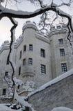 La forteresse antique dans la neige Photos libres de droits