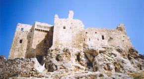 La forteresse d'assassins ruine la Syrie Photographie stock