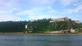 La forteresse d'Ehrenbreitstein Photos stock