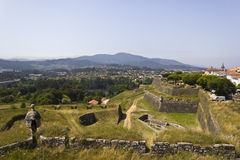 La forteresse dans Caminha Image stock