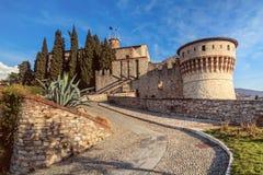La forteresse de Brescia, Italie photographie stock libre de droits