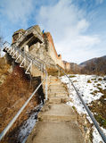 La forteresse de Dracula chez Poienari, Photographie stock libre de droits