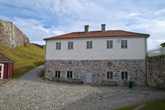 La forteresse de Fredriksten halden dedans (la construction de corbeau) Images libres de droits
