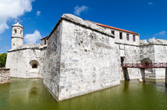 La forteresse de la La Fuerza à La Havane, Cuba Image stock