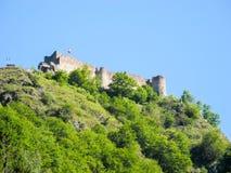 La forteresse de Poenari photo libre de droits