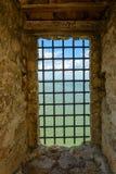 La forteresse du Belgorod-Dniestr a été protégée par les trellis forts image libre de droits