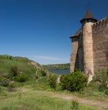 La forteresse médiévale dans le Hawtin en Ukraine Images libres de droits