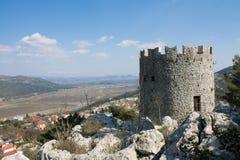 La forteresse médiévale Vrgorac Image libre de droits