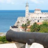 La fortezza del EL Morro a Avana Fotografia Stock