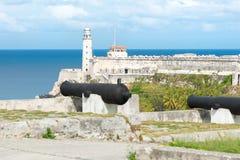 La fortezza del EL Morro a Avana Fotografie Stock Libere da Diritti