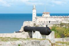 La fortezza del EL Morro a Avana Immagini Stock