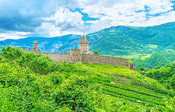 La fortezza del monastero di Tatev Fotografie Stock